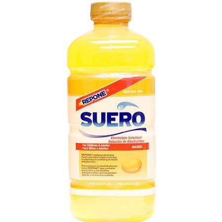 Suero Repone Mango Electrolyte Solution with Zinc (Pack of 2)