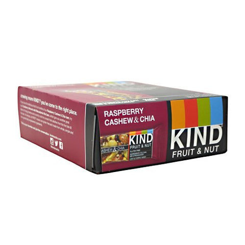 Kind Snacks - Kind Fruit & Nut, Raspberry Cashew & Chia - 1.4oz each - Box of 12 - SUMMER BUNDLE WITH COLD PACK - 3 Boxes - (Product image may vary based on Manufacturer's updates)