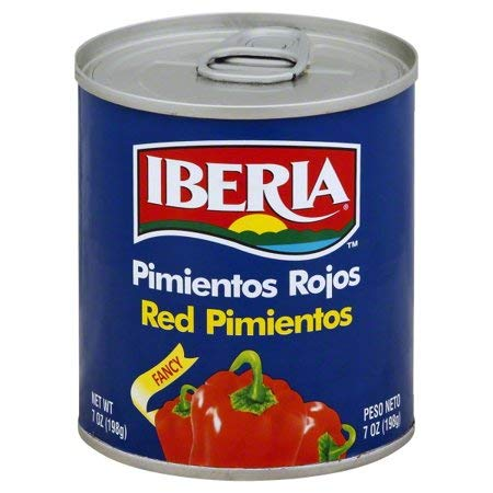 Iberia Fancy Sweet Red Pimientos 7 oz (3 Cans)