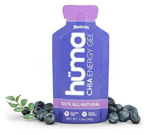 Huma Chia Energy Gel, Blueberries, 24 Count