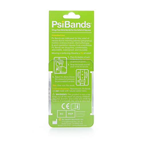 Psi Bands Acupressure Wrist Bands for The Relief of Nausea - Crystal Clear