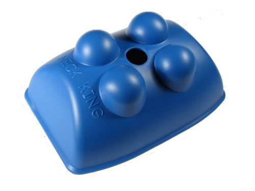 Neck King - Hands-free Self Massage Tool for the Neck and Back (Blue)