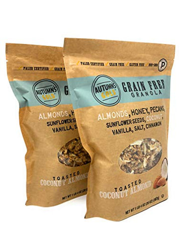 Autumn's Gold Grain Free Toasted Coconut Almond Granola 1lb 4oz (2 Pack)