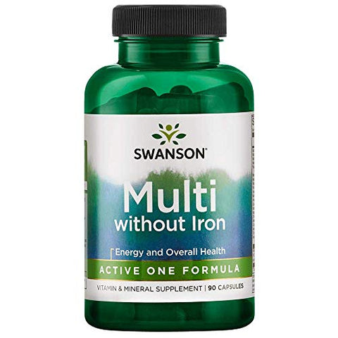 Swanson Active One Multivitamin Without Iron 90 Capsules