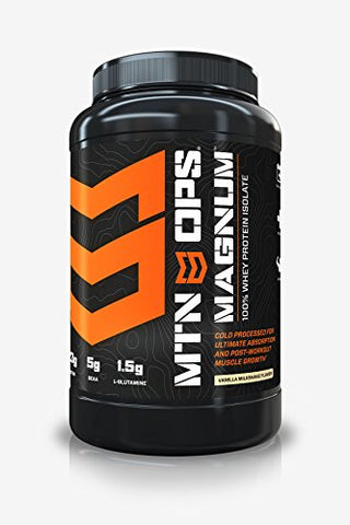 MTN OPS Magnum 100% Whey Isolate Protein Powder - 32 Servings, Vanilla