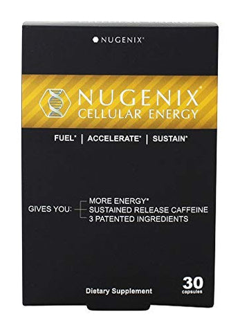 Nugenix Cellular Energy - More Energy, Muscle Support - L-Carnitine and L-Tartrate, elevATP, Green Tea Extract, Extended Release Caffeine, L-Tyrosine