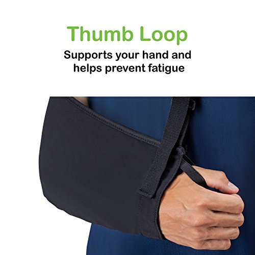 Think Ergo Arm Sling Air - Lightweight, Breathable, Ergonomically Designed Medical Sling for Broken & Fractured Bones - Adjustable Arm, Shoulder & Rotator Cuff Support