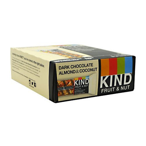 Kind Snacks - Kind Fruit & Nut, Dark Chocolate Almond & Coconut - 1.4oz each - Box of 12 - SUMMER BUNDLE WITH COLD PACK - 4 Boxes - (Product image may vary based on Manufacturer's updates)