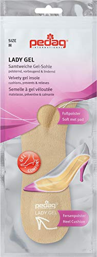 Pedag Lady Gel-Velvety Insole for High Heels, Open Toed Shoes and Sandals, Medium