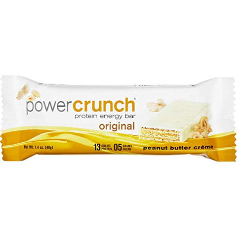 Bulk Pack Protein Bars (Power Crunch, Peanut Butter Crme, 12-Pack)