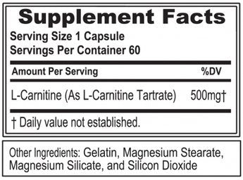 Now Foods L-Carnitine 500 mg - 60 VCaps