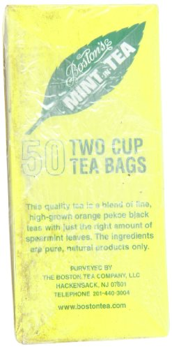 Boston Tea Mint-In-Tea, 50-Count Boxes (Pack of 6)