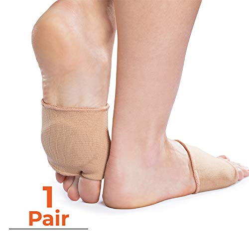Natra Cure Gel Metatarsal Pads   1 Pair   With Metatarsalgia Forefoot Cushion   For Ball Of Foot Pain