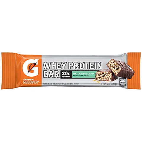 Gatorade Recovery Whey Protein Bar, Mint Cholocate Chip