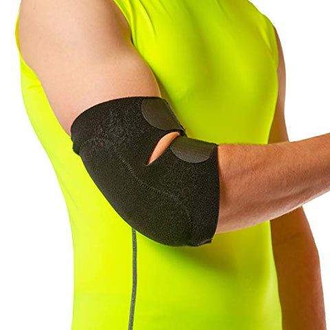 BraceAbility Bursitis Elbow Pad Brace | Compression Arm Sleeve Wrap with Padded Soft Support Cushion for Olecranon Joint Pain, Bursa Protection, Arthritis & Tendonitis Relief (One Size)