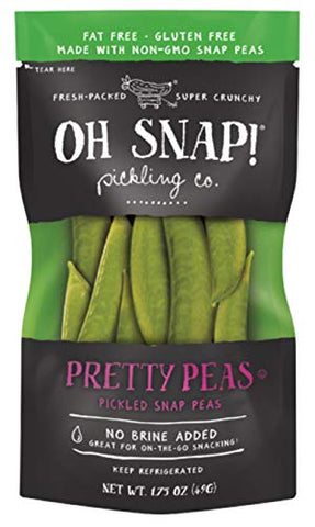 Oh Snap! Fresh Packed Super Crunchy Pretty Peas Pickled Snap Peas, 1.75 Oz