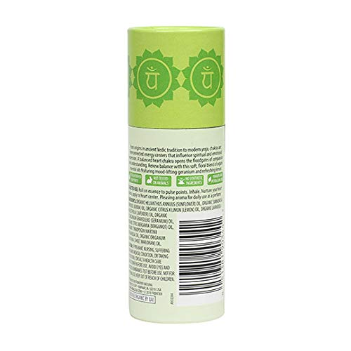 Aura Cacia Opening Heart Chakra Roll On | Organic | Gc/Ms Tested For Purity | 9.2 Ml (0.31 Fl. Oz.)