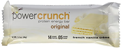 Bionutritional Research Group - Power Crunch Vanilla Creme Protein Energy Bars, 1.4 oz, 5 bars