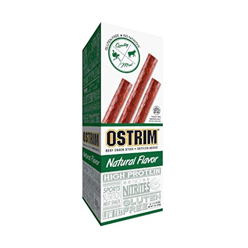 Ostrim Beef and Ostrich Snack - Natural Flavour,10 Count - 1.5 Ounce Sticks