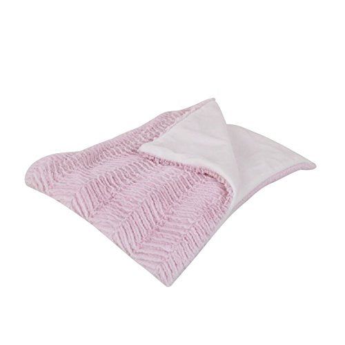 Cotton Tale Designs Chevron Minky Coverlet, Sweet and Simple Pink