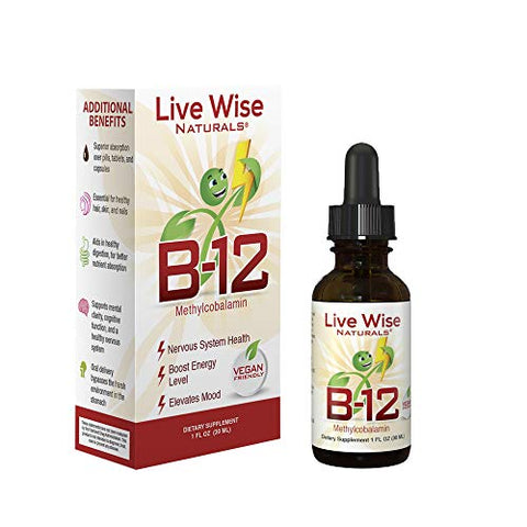 Liquid B12 Vitamin Sublingual â?? All Natural Liquid Vitamin Vegan B12 Drops â?? Non Gmo Adenosylcob