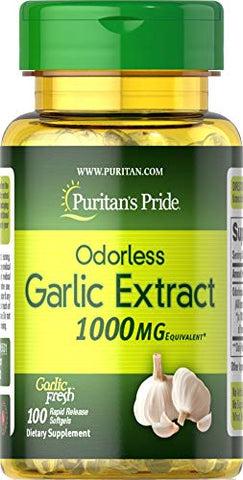 Puritans Pride Odorless Garlic 1000 Mg, 100 Count