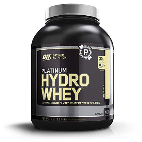 Optimum Nutrition Platinum Hydrowhey Protein Powder, 100% Hydrolyzed Whey Protein Isolate Powder, Flavor: Velocity Vanilla, 3.5 Pounds