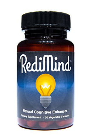 RediMind - Clinically-Proven Cognitive Enhancement Supplement - Non-GMO, Vegan, Gluten-Free