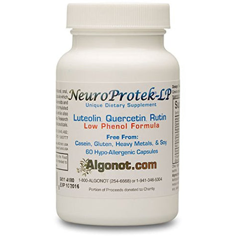 Neuro Protek Low Phenol   60 Soft Gels Exclusive Patented Combination Of Luteolin And Other Flavinoid
