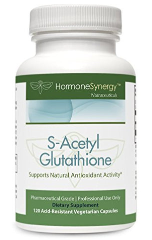 S Acetyl Glutathione | 120 Acid Resistant V Caps | Patented Acetylated Glutathione (Emothionã'â®) | S