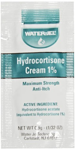 Waterjel 2691 1 Percent Hydrocortisone Anti-Itch Cream Pack, 0.9 gm (Box of 144)