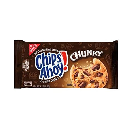Chips Ahoy Cookies, (Pack of 3) (11.75 oz White Fudge Chunky)