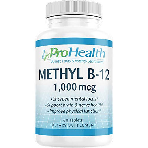 ProHealth Methyl B-12 Methylcobalamin (1000 mcg, 60 sublingual Tablets) (Vitamin B-12)