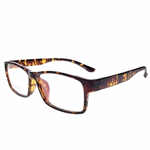 Jcerki Photochromic Brown Reading Glasses 4.25 Strengths Men Women Fashion Light Readers Glasses