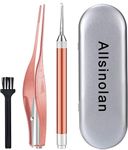 Allsinolan Ear Cleaner, Ear Wax Removal Kit, Earwax Removal Tools Safely and Gently Cleaning Ear Canal at Home,Ear Cleansing Tool with Storage Box