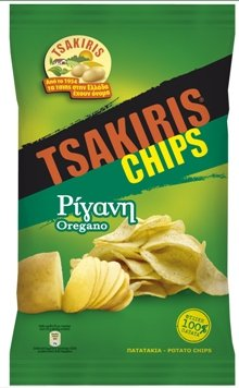 Tsakiris Chips with Oregano From Greece - 36 Packs X 45g (1.6 Ounces Per Pack)