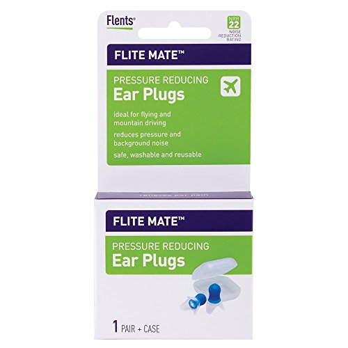 Flents Ear Plugs, Ear Plugs For Flying, 1 Pair With Case, Pressure Reducing, Npr 29