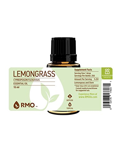 Rocky Mountain Oils Lemongrass Essential Oil 15ml - 100% Pure Essential Oils