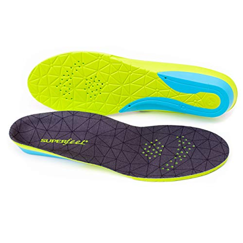 Superfeet FLEXmax, Comfort Insoles for Roomy Athletic Shoe Maximum Cushion and Support, Unisex, Emerald, X-Large/F: 12.5+ Wmns/11.5-13 Mens