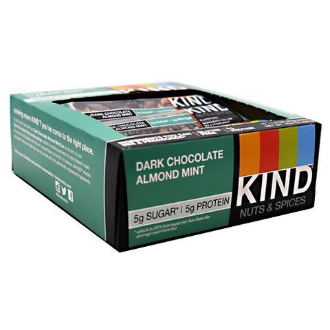 Kind Snacks - Kind Nuts & Spices, Dark Chocolate Almond Mint - 1.4oz each - Box of 12 - SUMMER BUNDLE WITH COLD PACK - 4 Boxes - (Product image may vary based on Manufacturer's updates)