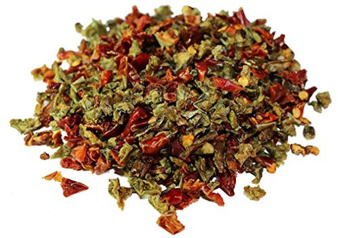 Dried Red and Green Bell Peppers Mix by It's Delish, 5 lbs