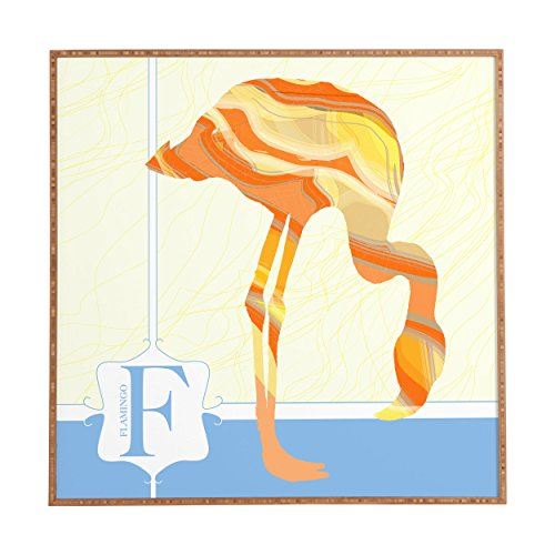 "Deny Designs Jennifer Hill, Mister Flamingo, Framed Wall Art, Medium, 20"" x 20"""