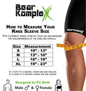Image of Bear KompleX Compression LITE Neoprene Knee Sleeves, Support for Workouts & Running. Sold in Pairs-Crossfit Training, Weightlifting, Wrestling, Squats & Gym Use 4mm Thick, Options for Both Men & Women