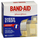 Image of BAND-AID Sheer Strips Assorted 80 Each (Pack of 2)