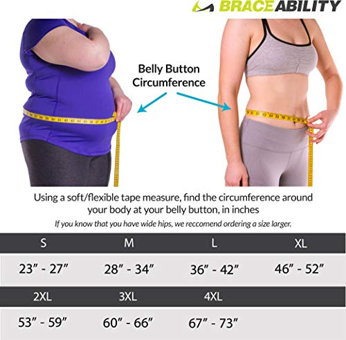 BraceAbility Women's Back Brace for Female Lower Back Pain Treatment & Lumbar Support (Medium)