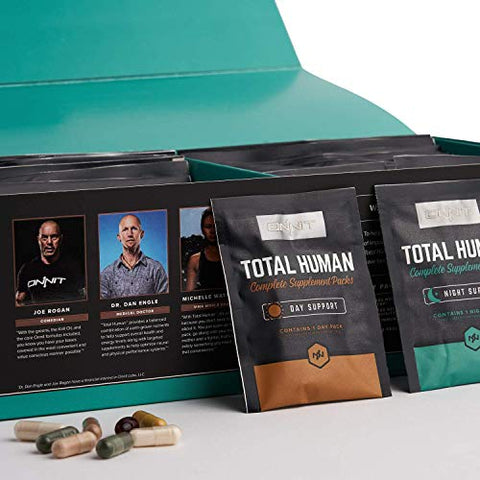 ONNIT Total Human - Daily Vitamin Packs for Men & Women (60 Pack) - 10x Your Multivitamin - Packed with Essential Vitamins, Minerals, Herbs & Amino Acids
