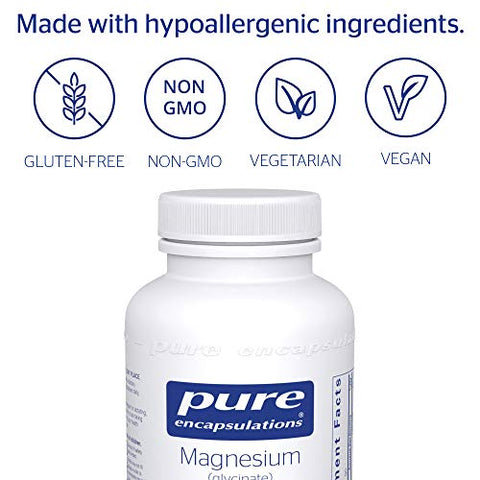 Pure Encapsulations - Magnesium (Glycinate) - Supports Enzymatic and Physiological Functions - 90 Capsules