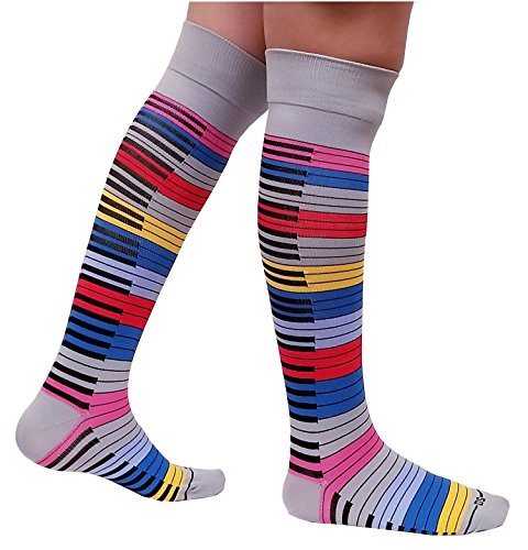 6 pair Dr Shams Compression Socks 9-11 Multicolored 15-20mmHg strength