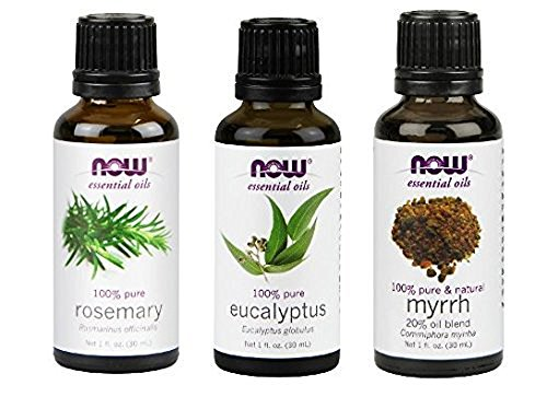 3-Pack Variety of NOW Essential Oils: Breathe Deep Blend - Rosemary, Eucalyptus, Myrrh