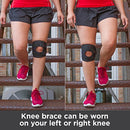 Image of BraceAbility Patellar Tracking Short Knee Brace | Running, Exercise & Basketball Support Sleeve Stabilizer for Post Kneecap Dislocation, Tendonitis, Patellofemoral Pain & MCL/LCL Injuries (Large)